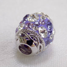 Load image into Gallery viewer, Silver & Violet Swarovski Celtic Bead