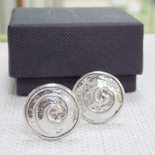 Load image into Gallery viewer, Celtic spiral cufflinks in pewter