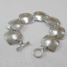 Load image into Gallery viewer, Reaction Pewter Squares Bracelet