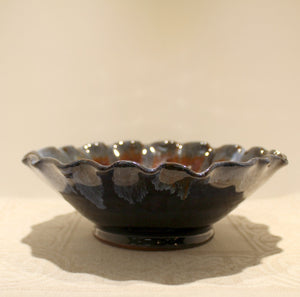 Rossa Pottery Bowl (Fluted edge)
