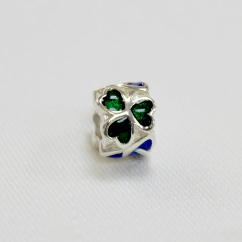 Sterling Silver Shamrock and Trinity Knot Charm