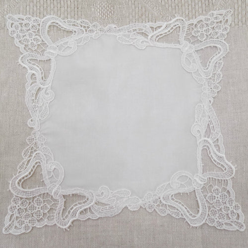Lace Handkerchief, Flowers and bows