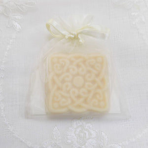 square celtic design goats milk soap