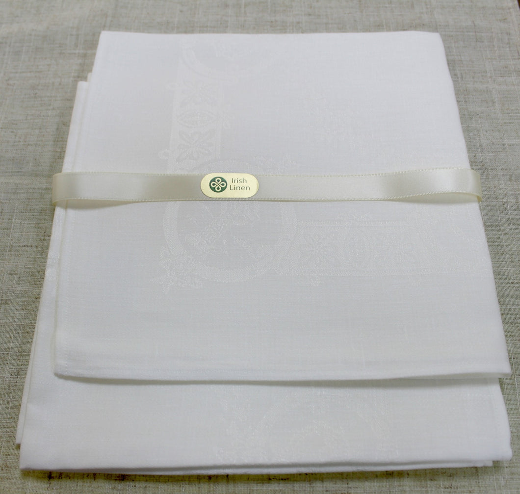 Etamine Irish Linen Napkin- White