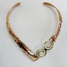 Load image into Gallery viewer, Grange Two Tone Celtic Spiral Torc Necklace