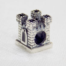 Load image into Gallery viewer, A castle shaped sterling silver bead charm
