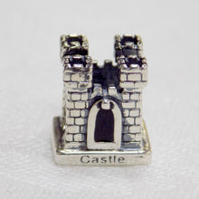 Load image into Gallery viewer, Castle shaped sterling silver bead charm from Tara's Diary