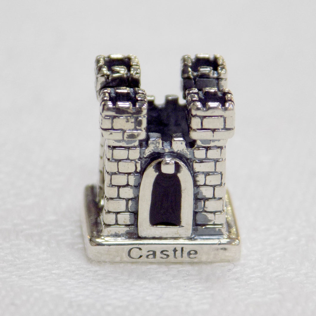 Castle shaped sterling silver bead charm from Tara's Diary