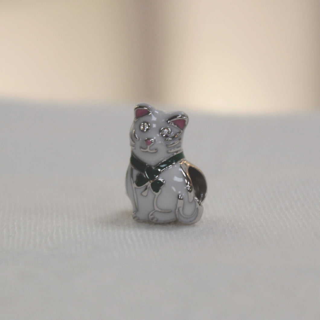 Irish Cat Bead Charm
