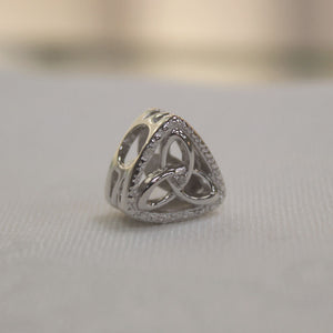 Diamond Set Trinity Triangle Charm