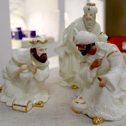Three Kings Belleek Nativity set