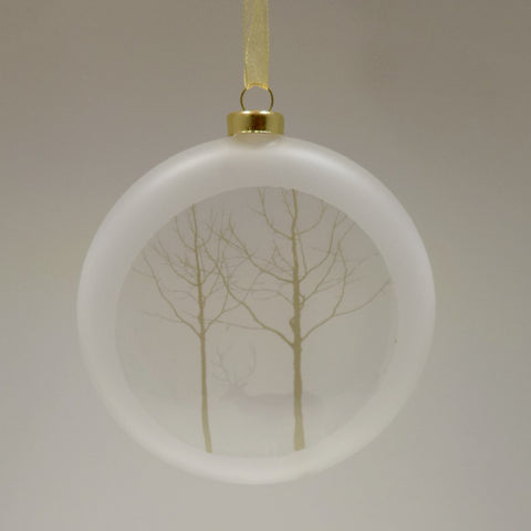 Glass Decoration- Trees and Deer