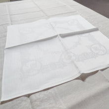 Load image into Gallery viewer, pattern of white Irish linen napkins in Celtic pattern