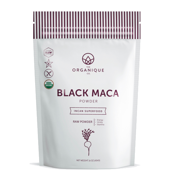 Black Maca Powder Superfood by the Organique Co