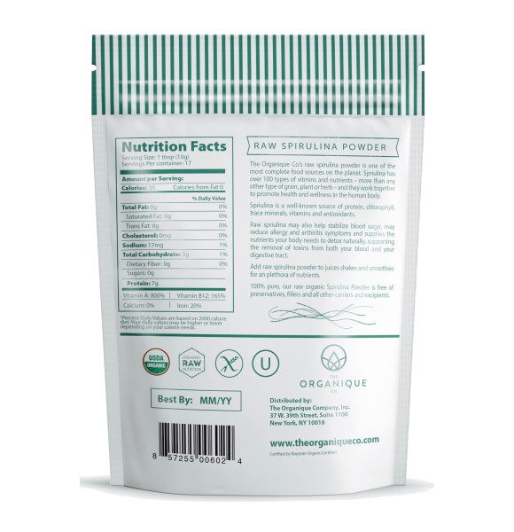 Organic Spirulina Powder sold by The Organique Co.