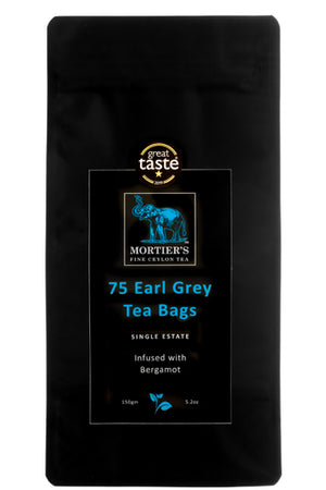 75 EARL GREY TEA BAGS INFUSED WITH NATURAL OIL OF BERGAMOT