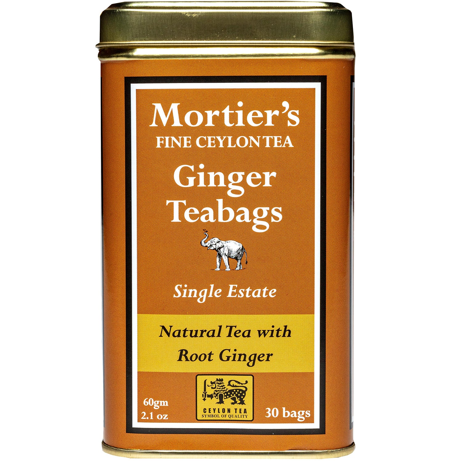 NEW! GINGER TEA BAGS  PURE CEYLON TEA WITH ROOT GINGER