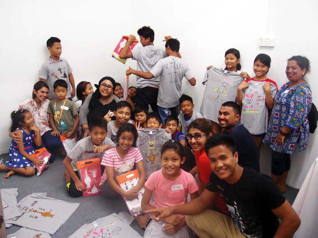 Workshop with Myanmar refugee kids