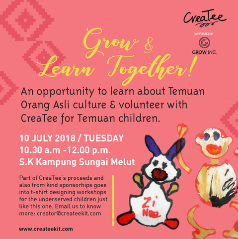 CreaTee with Orang Asli Children of Sungai Melut