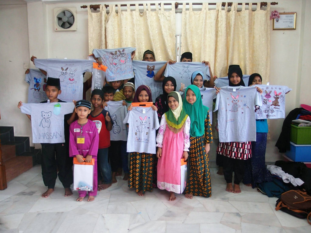 Workshop with Rohingya kids
