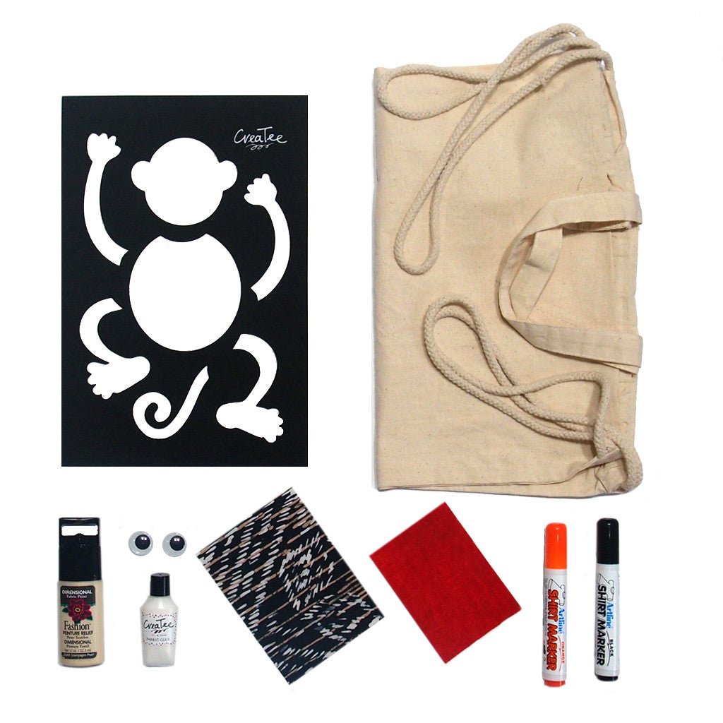 Cici the Monkey Canvas Bag