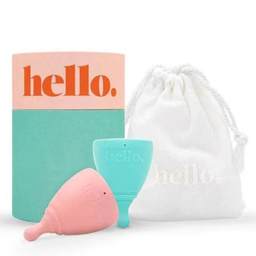 Hello Cup Double Box - XS (TEEN) & SM Blue - Menstrual Cup