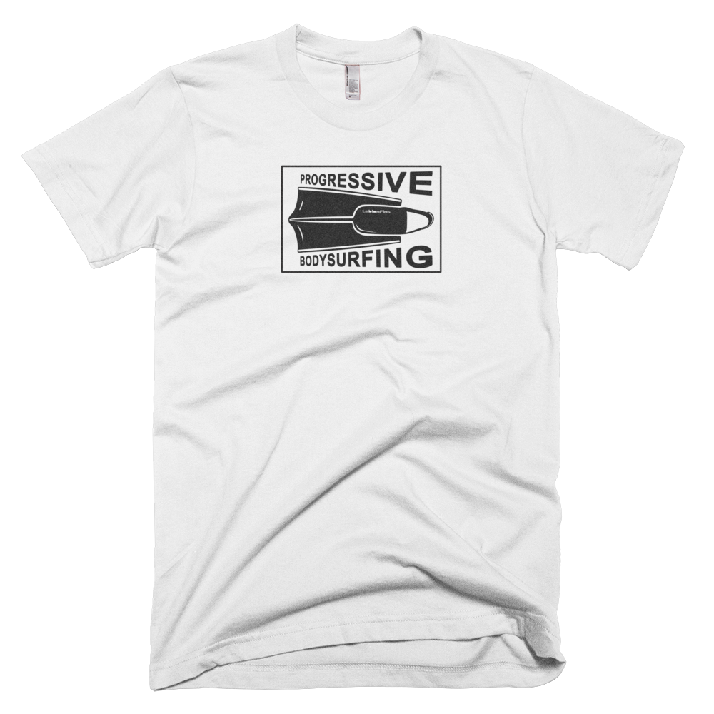 Progressive Bodysurfing T-Shirt (in white and grey)