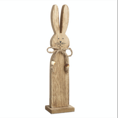 Standing wooden rabbit