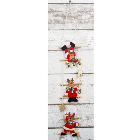 Rudolph On A Ladder Christmas Decoration