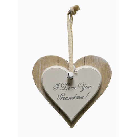 I love you Grandma wooden hanging sign