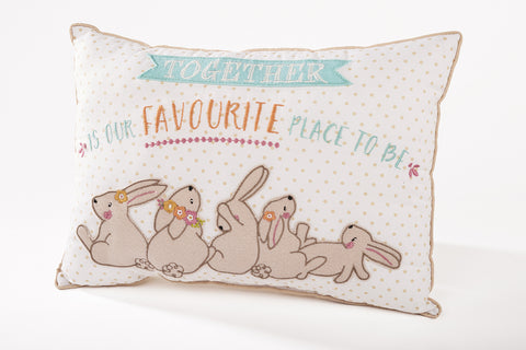 Together is our favourite place to be, Favourite Rabbit Cushion