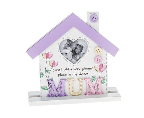 Mum Floral Style Photo Frame - Special Place, Heart