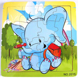 Baby Elephant, wooden jigsaw puzzle