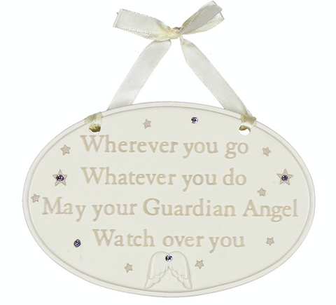 Bambino, Wherever you go Guardian Angel, Hanging Plaque