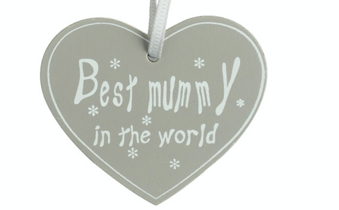 Best mummy, wooden heart