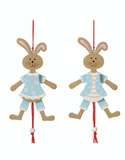 Blue Hanging Bunnies (Jumping Jacks)