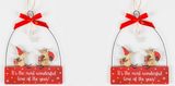 Christmas Mice, wonderful time, sign