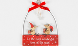 Christmas Mice, wonderful time of the year, hanger