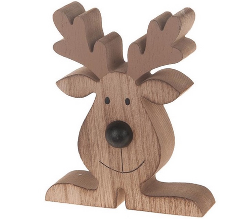 Chunky Wooden Reindeer, Natural Collections