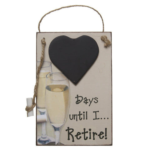 Days until I... Retire!, Hanging Chalkboard