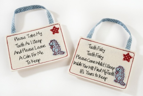 Dinosaur, Tooth Fairy, Envelope - Set of 2