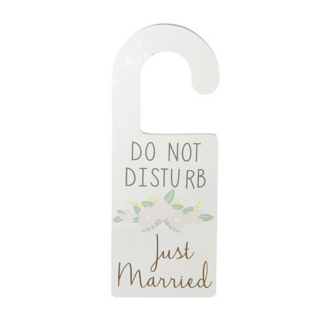 Door Hanger - Do Not Disturb Just Married