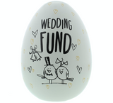 Eggcellent Large Nest Egg, White & Gold, Wedding Fund