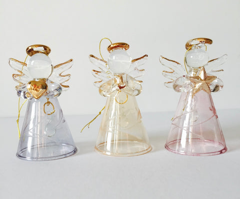 Set of 3 Engraved Angels with Bells