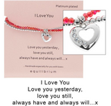 Equilibrium, Double Message Bracelet, I love you, close up