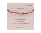 Equilibrium, Double Message Bracelet, I love you