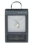 Equillibrium Silver Plate Crystal Heart Necklace