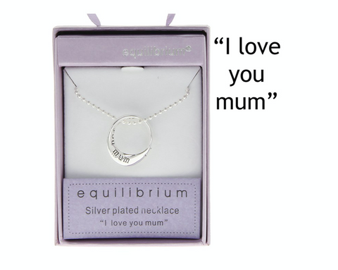 Equilibrium, I love you mum ring, necklace