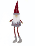 Fabric Sitting Santa with red hat