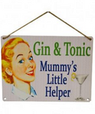 Gin and Tonic Mummy's Little Helper, shown hanging